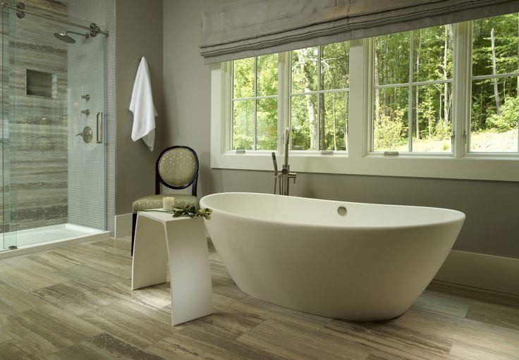 White Oak Bathroom. Elise 1 freestanding tub and Engineered Solid ...