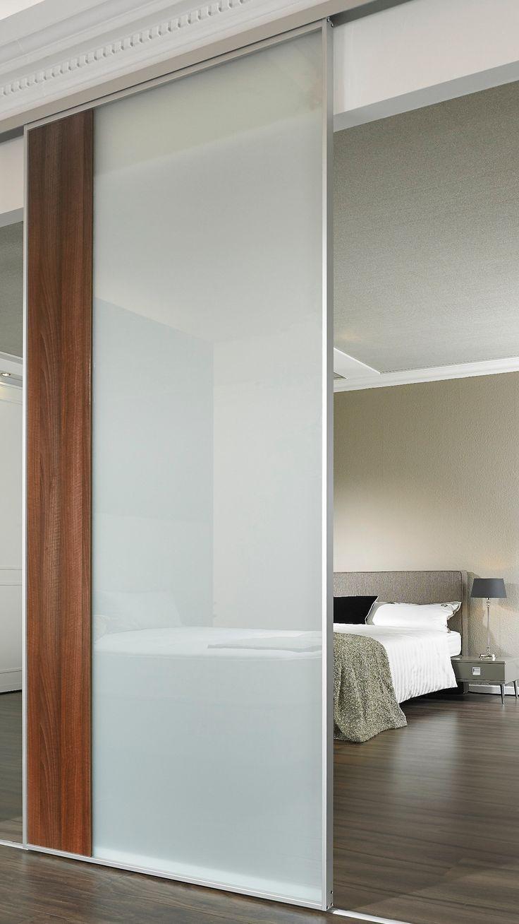 Moderne Glastur Zum Schieben Mit Milchglas Glastur Innen