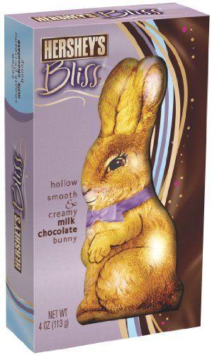 Hersheys Bliss Easter Milk Chocolate Hollow Bunny 4 Ounce