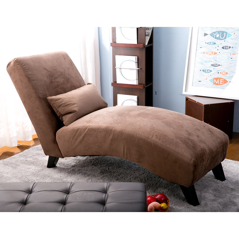 Merax Fabric Chaise Lounge Chair Leisure Sofa Living Room Sleeper