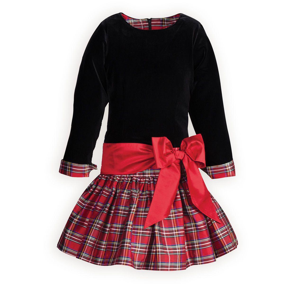 b615931af1f41 Christmas Plaid Drop-Waist Girls Dress | mad for plaid | Girls ...