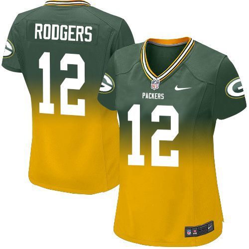 Nike Aaron Rodgers Women's Green/Gold Limited Jersey: #12 NFL Green Bay Packers Fadeaway