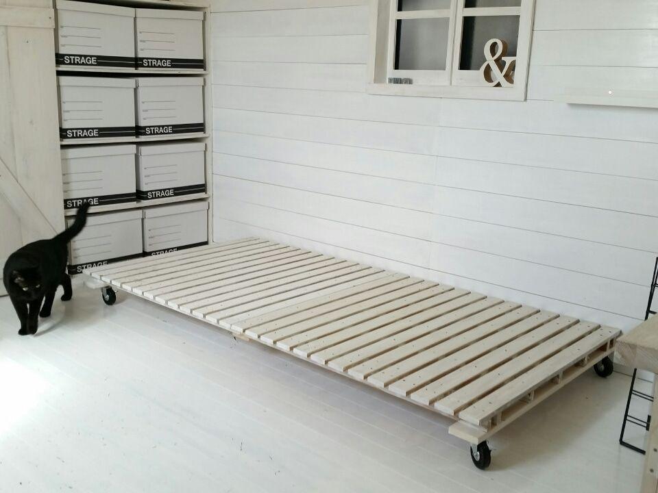 キャスター付きすのこベットdiy ベッド Diy インテリア 家具 模様替え