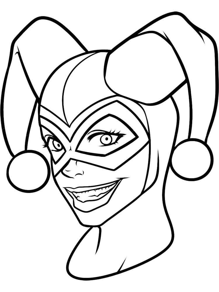 Harley Quinn Coloring Pages Black And White Pinterest Harley