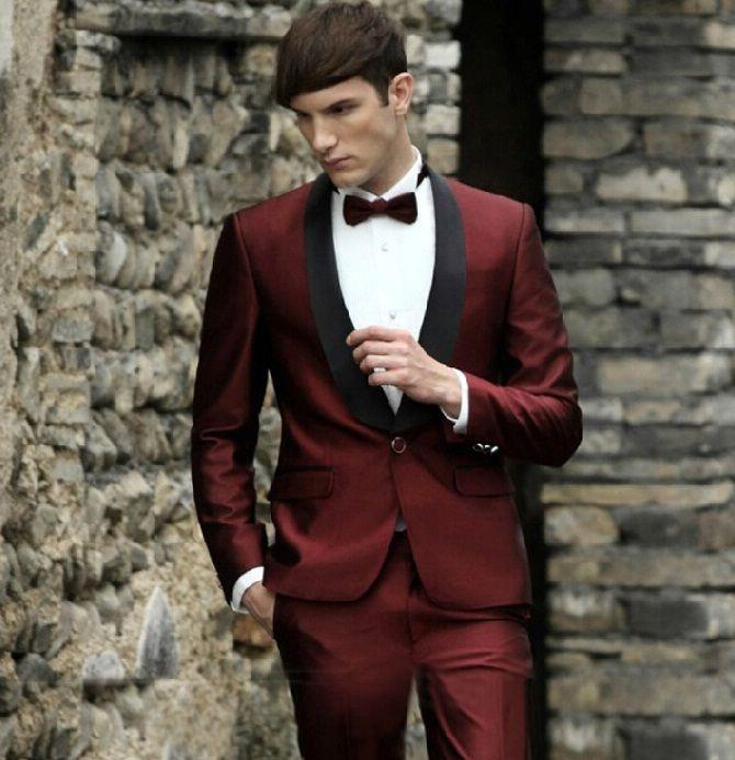 Popular Red Burgundy Tuxedo Jacket-Buy Cheap Red Burgundy Tuxedo ...