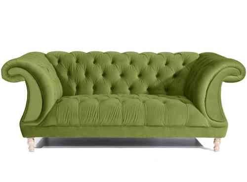 Max Winzer 2-Sitzer Sofa ISABELLE Chesterfield Samt - verschiedene Farben