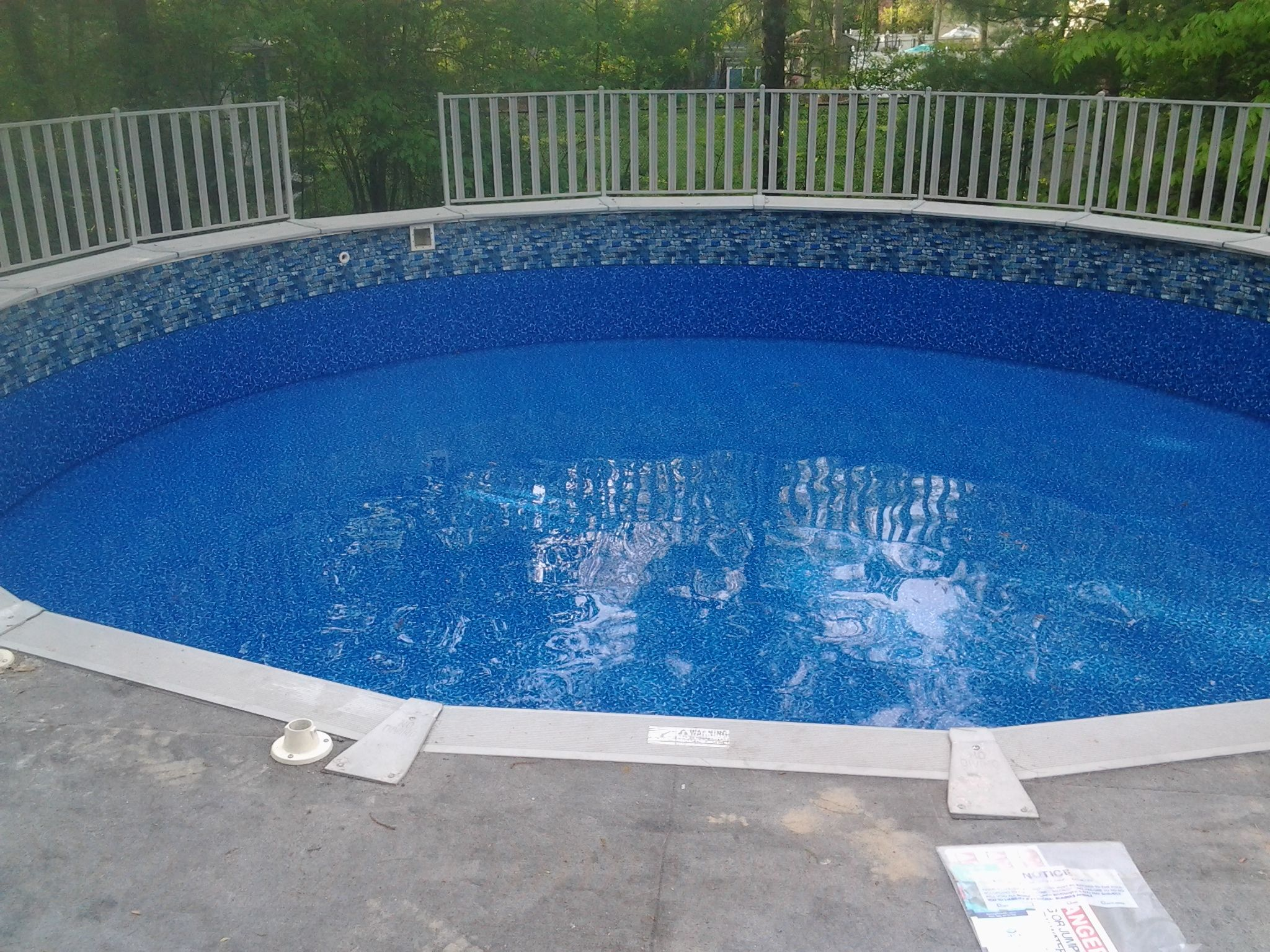 Fieldstone liner replacement in rockland ma june 2014 for Swimming pool liners