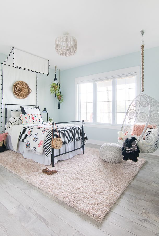 Tween Girl Beachy Boho Schlafzimmer - WOHNKULTUR #teenagegirlbedrooms
