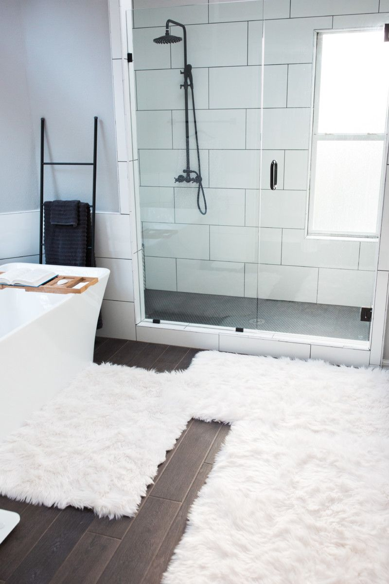 Bathroom Makeover The Miller Affect White Bathroom Rug White Bathroom Interior Modern Bathroom Rug [ 1200 x 800 Pixel ]