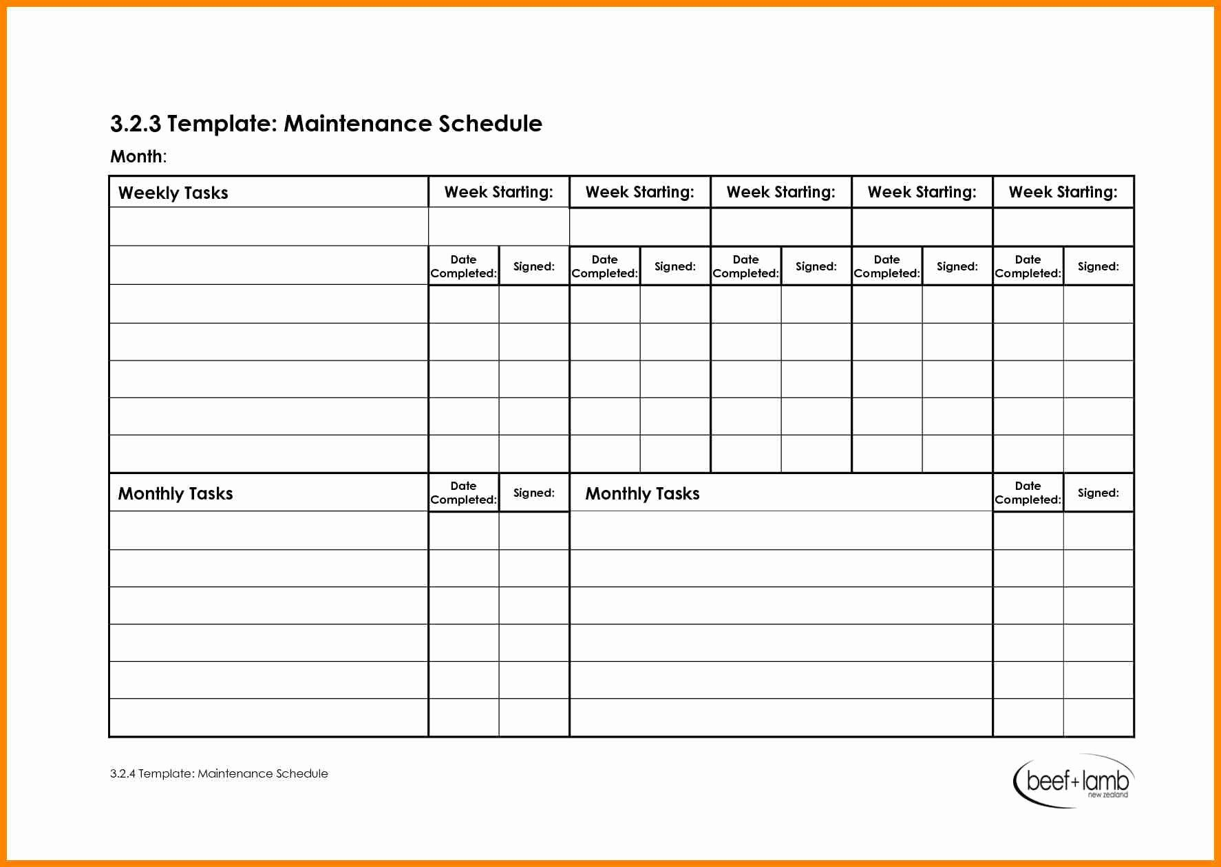 Work Cleaning Schedule Template Elegant 28 Of Maintenance Schedule Template Cleaning Schedule Templates Schedule Template Templates