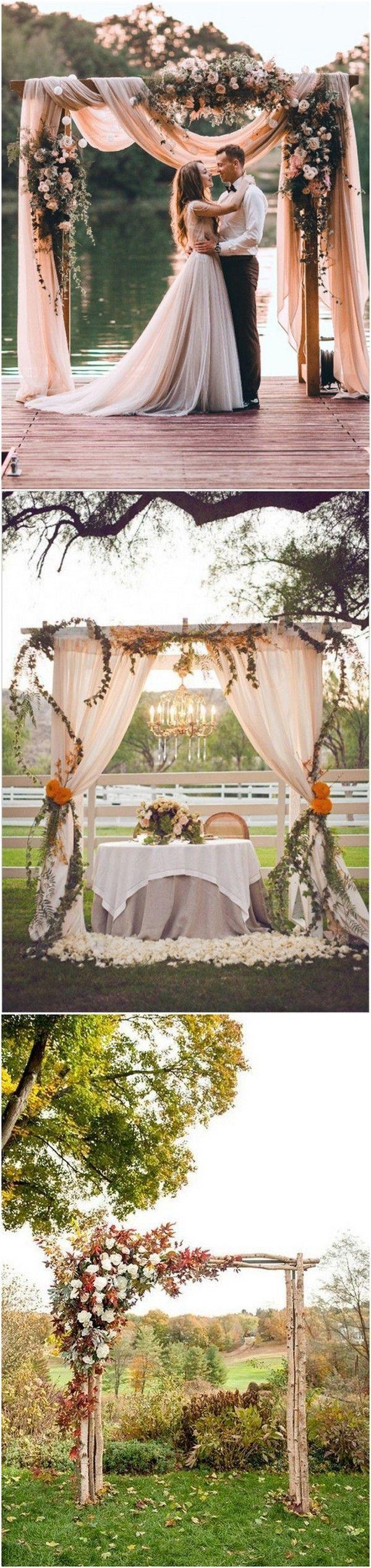 Fall wedding decoration ideas reception  fall wedding arch decoration ideas weddingideas weddingdecor