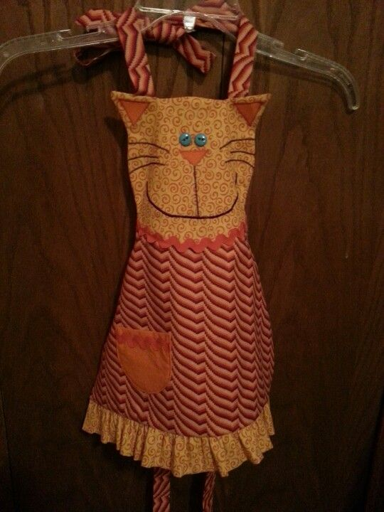 Cat apron for a little girl.
