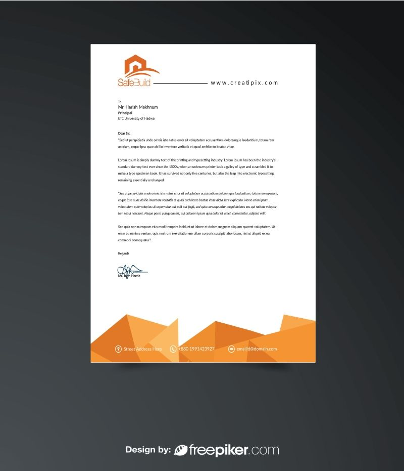 Corporate Business Letterhead Print Templates Pinterest - business letterhead