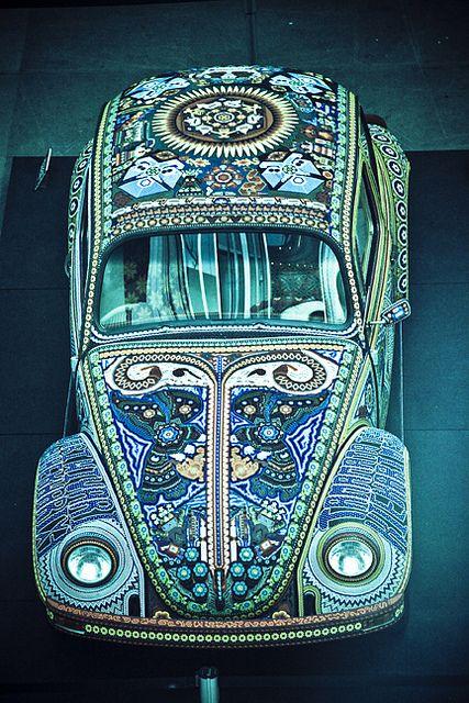 Blue Beetle Cars : beetle, Vochol, Cars,, Mosaic,