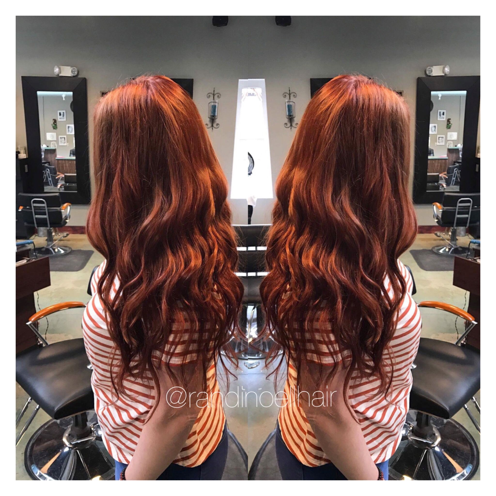 Copper Hair With Tape In Extensions Tape In Hair Extensions