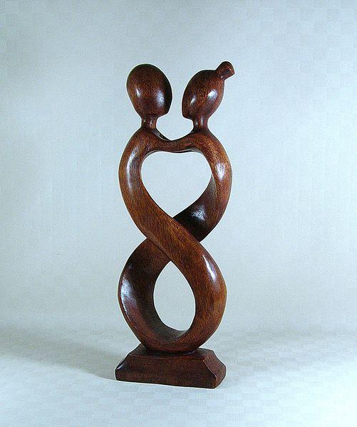 Holz Skulptur Die Liebenden Liebespaar Hochzeit Von World Art