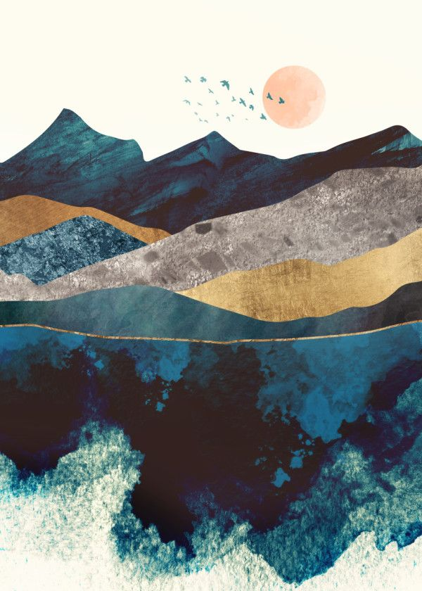 """Displate Poster Blue Mountain Reflection blue #mountain explore Pinterest""""> #mountain #reflection explore Pinterest""""> #reflection… 