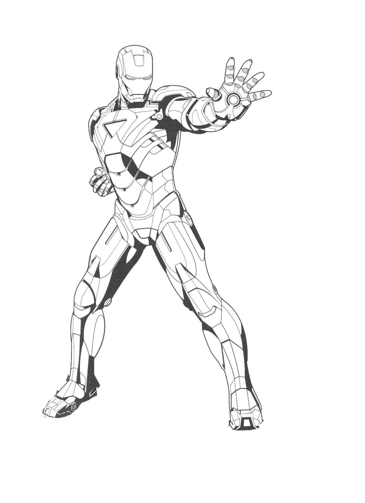 Coloring Pages Free Printable Iron Man Download Superhero Coloring
