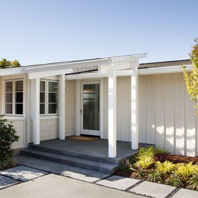 Adding A Portico To Flat Facade Modern Design