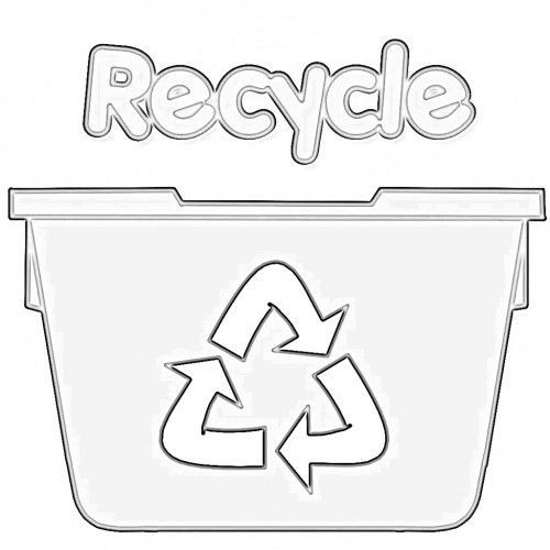 Recycling Bin Coloring Pages Super Kins Author