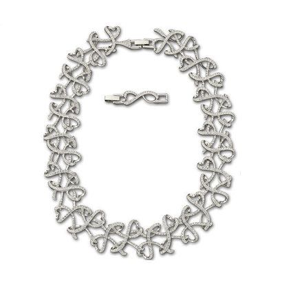 33d141296111 Swarovski White Metal Crystal Collerette Necklace SN1099 from Beaverbrooks  the Jewellers GBP319.00