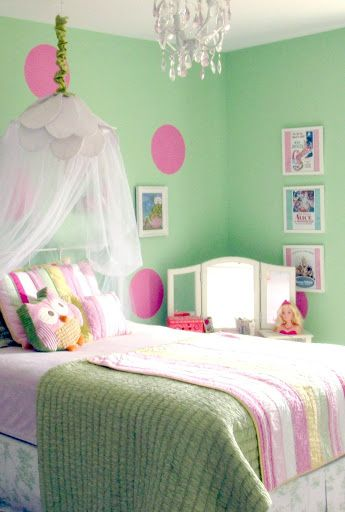 Pink Amp Green Girl S Room Paint Color Pittsburgh Paint