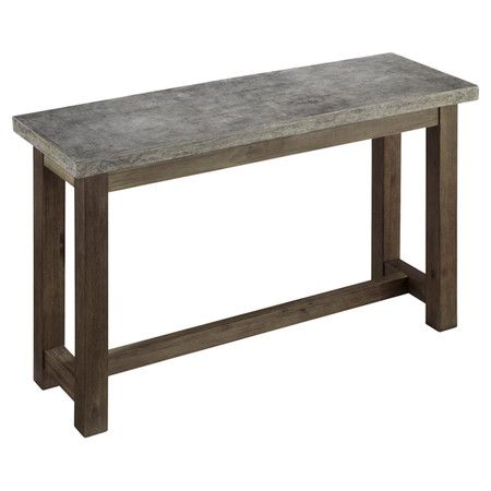 Concrete Chic Indoor Outdoor Console Table Outdoor Console Table Gray Console Table Metal Console Table