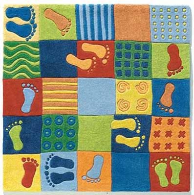Alfombra infantil huellas de haba alfombras para cuartos - Alfombras habitacion ninos ...