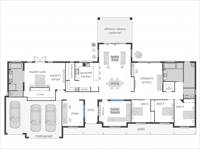 Bronte Executive Lodge Floor Plan House Plans House Layouts Home Design Floor Plans