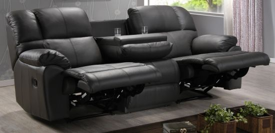 Black Leather Twin Recliner by Fascination Seating : 2 seater theatre recliner - islam-shia.org