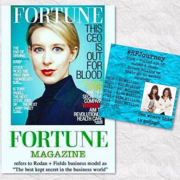 "Harvard School of Business called it the ""chance of a lifetime."" Fortune magazine now just featured Rodan + Fields calling it ""the best kept secret in the business world."" This is such an incredible company - the products, the support and the incentives!!  610-761-2135 jessicadiemidio@gmail.com jdiemidio.myrandf.com"