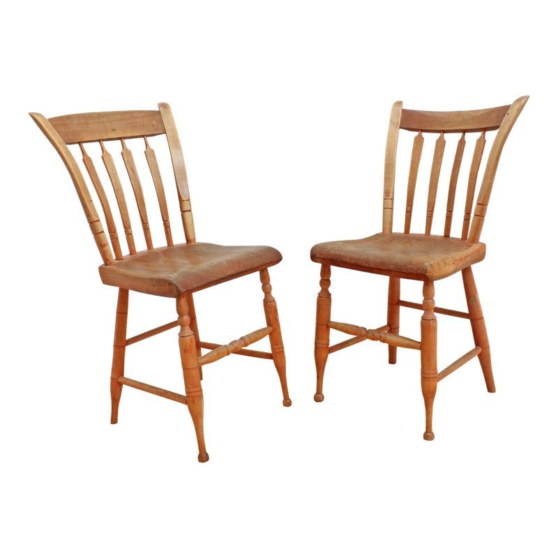 Antique Primitive American Chairs 1800s Country Farmhouse