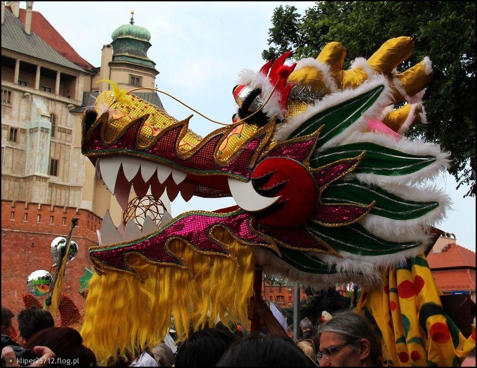 Kraków street photo-Wielka XII Parada Smoków