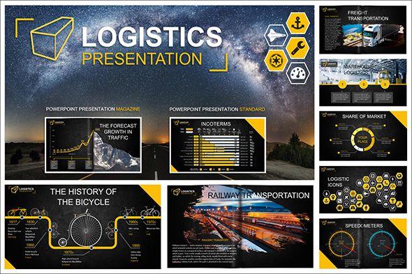 Logistics Powerpoint Template Powerpoint Templates Pinterest