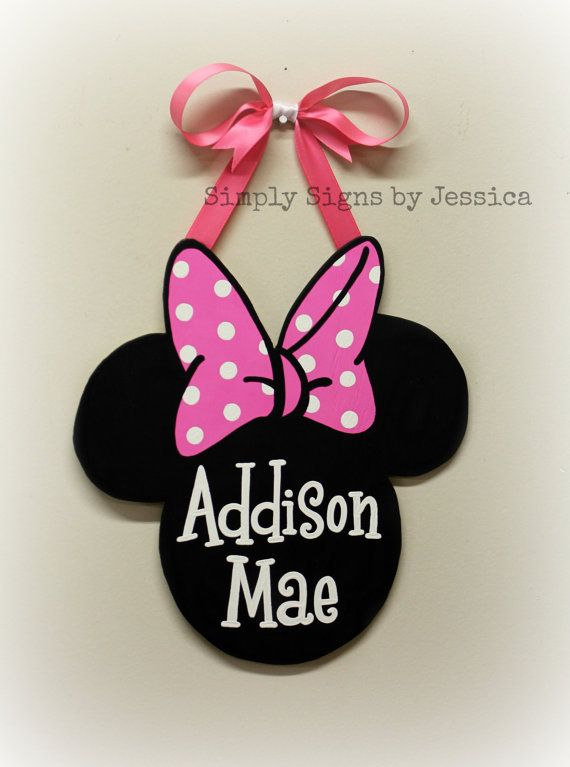 Hand Painted Minnie Mouse Sign Personalized by ...