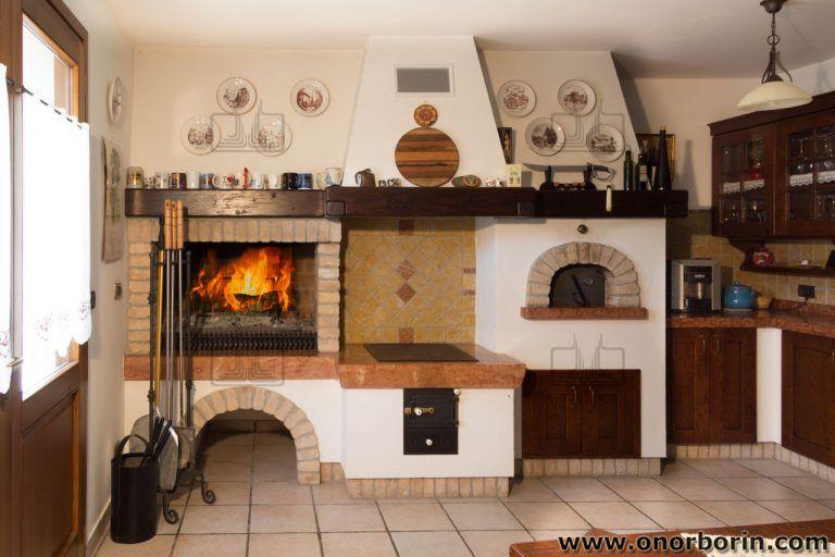 Cucina a legna con forno ROSA LIBERTY di La Nordica ...