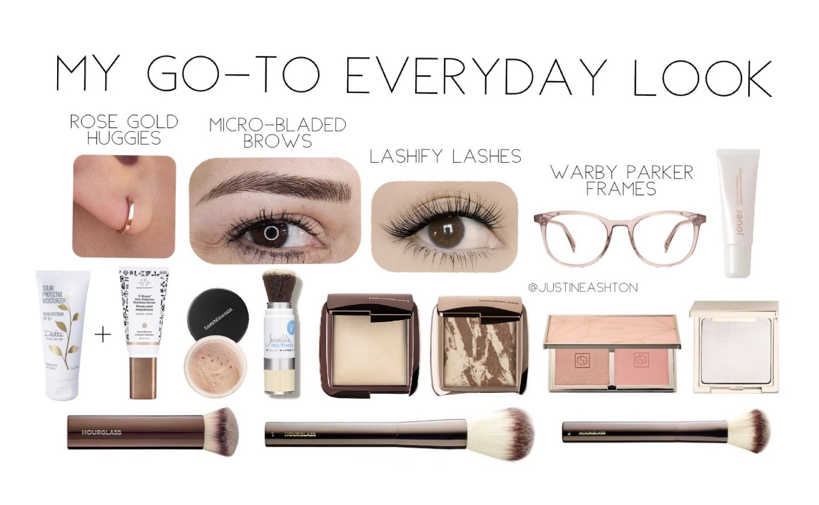 Ultimate Go To Everyday Look Base Devita Solar Protective Moisturizer Spf 30 Disciple Miracle Drops Hourglass Makeup Online Makeup Bare Minerals Concealer