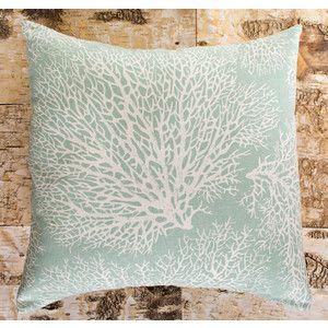 Coral Tree In Seafoam Green Throw Pillow Zazzle Com Green