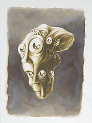 """""""Fusion 1"""" von Matthias Triet   Acryl & Tinte auf Aquarellpapier   30 x 40 cm   www.einfachKunst.ch   Art   Basel   Schweiz"""