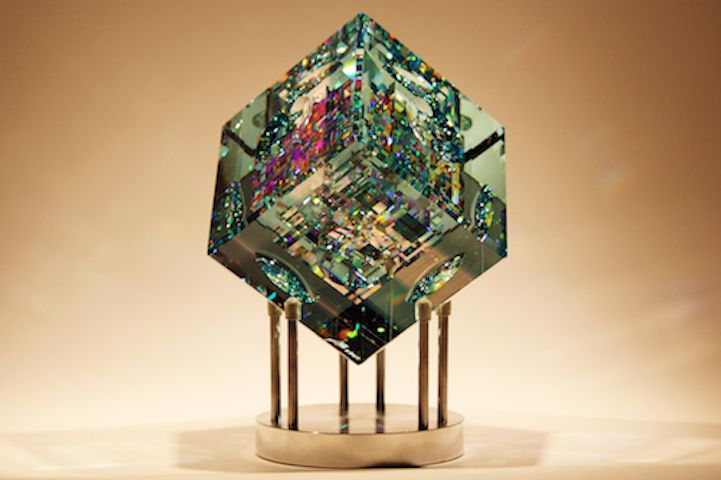 Rare Kaleidoscopic Glass Sculptures By Jack Storms Glass