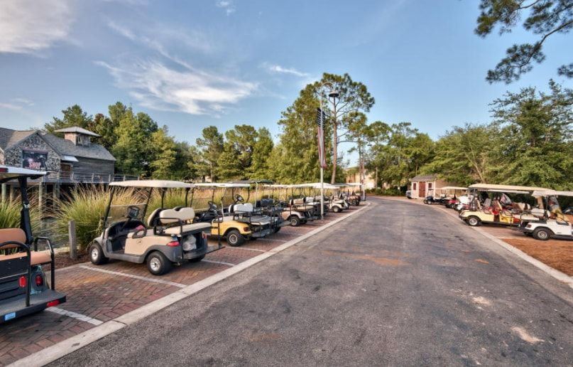 Baytown wharf has golf cart parking to guests