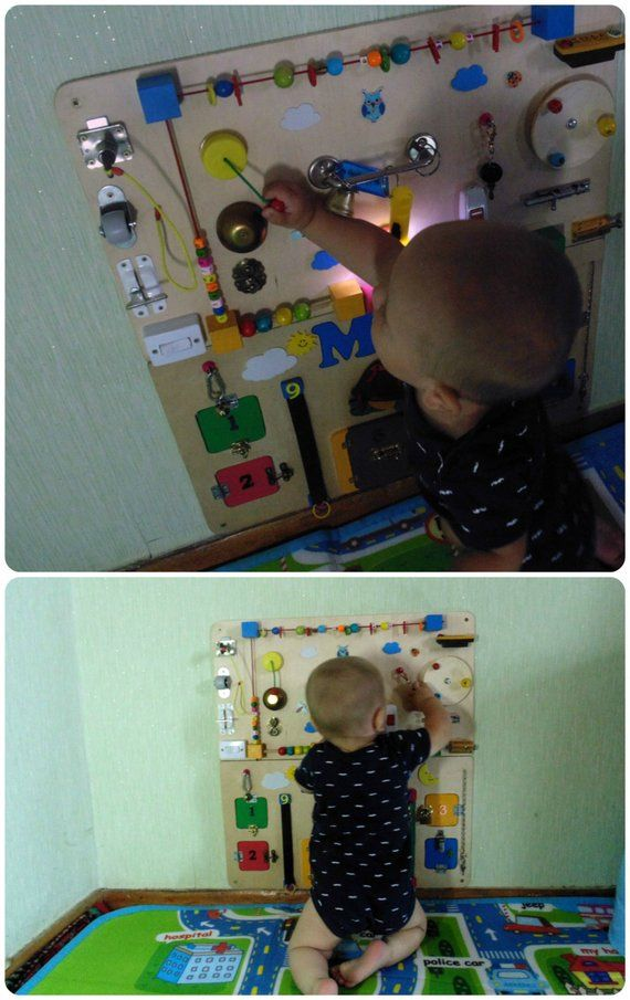 Personalized Busy Board Toddler Montessori toy Baby ...