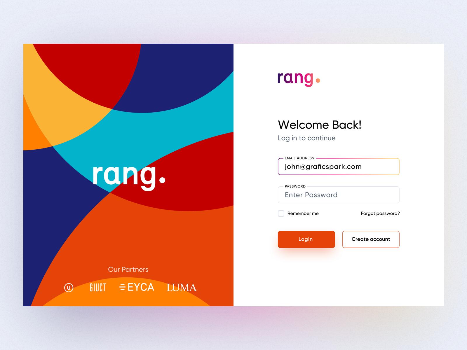 Rang Login UI | Onboarding | Rings, Web design inspiration