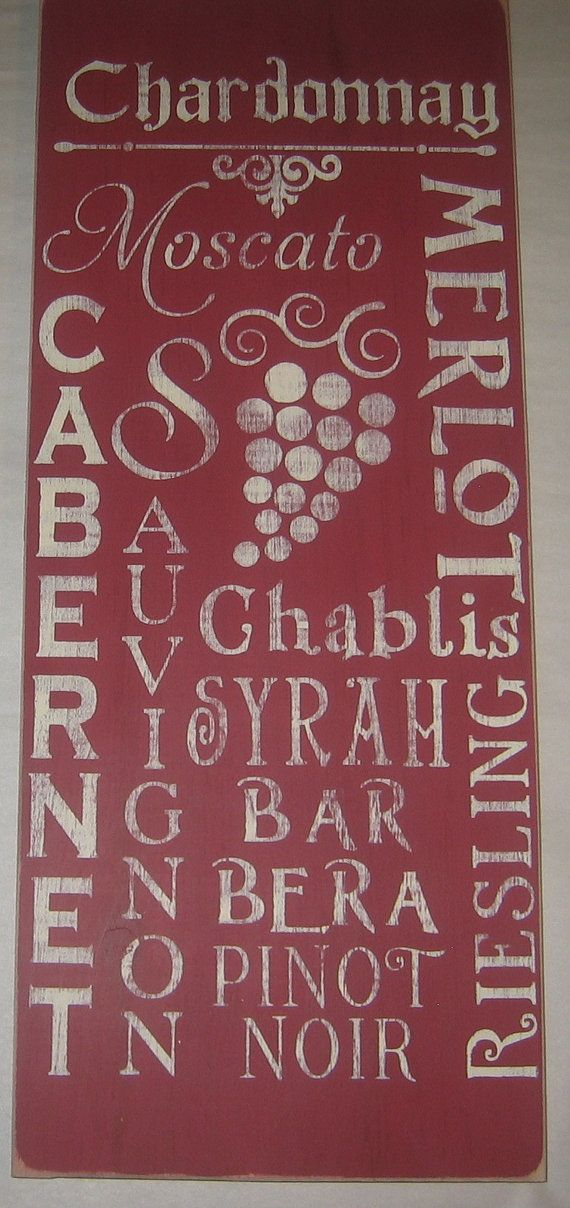 Vino Wine Collectors Club  Typography Wall by CottageSignShoppe, $50.00