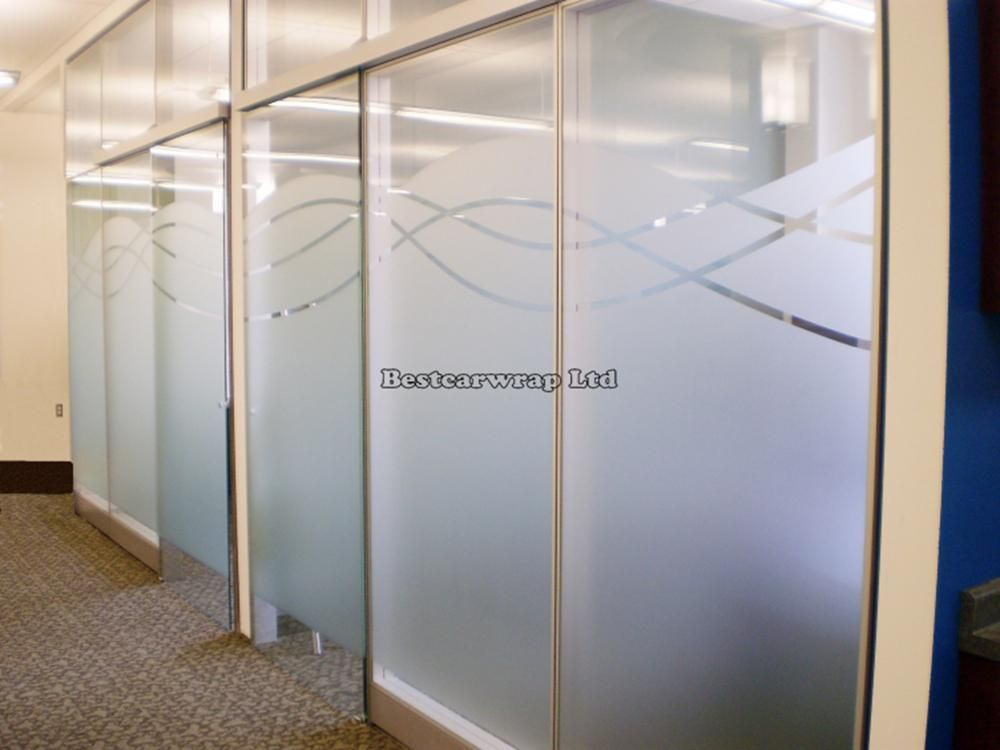 Privacy Window Film Frosted Glass White Decoration Self Adhesive
