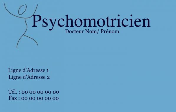 Carte De Visite Psychomotricien Creez Gratuitement A Partir Modele En Ligne Votre