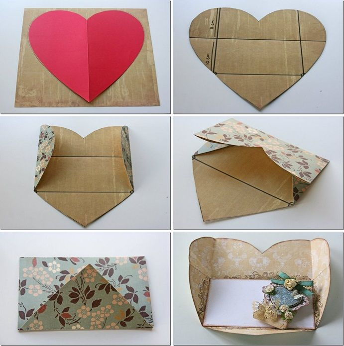 diy valentines day cards tutorials cardboard heart shaped envelope – How to Make a Cute Valentines Day Card
