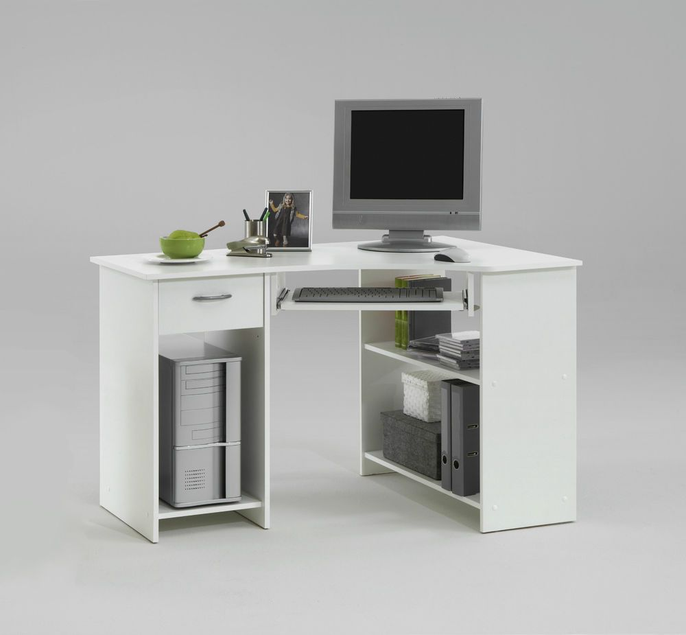 Office Furniture Home Office Computer Desk Corner unit White ...