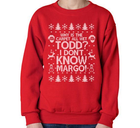 Kid S Christmas Sweatshirt I Don T Know Margo Sweatshirt Why