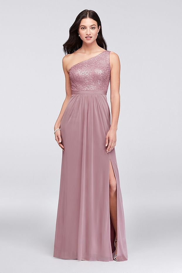 Dusty Rose One Shoulder Dresses